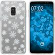 Samsung Galaxy A8 (2018) Plus Silicone Case Christmas X Mas M2