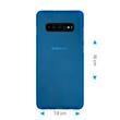 Silicone Case Galaxy S10 Plus matt blue Cover Pic:1