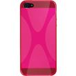 Silicone Case for Apple iPhone 5 / 5s X-Style hot pink Pic:2