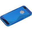 Silicone Case for Apple iPhone 5 / 5s S-Style logo blue Pic:5