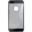 Silicone Case for Apple iPhone 5 / 5s S-Style logo gray Pic:2