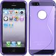 Silicone Case for Apple iPhone 5 / 5s S-Style logo purple
