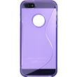 Silicone Case for Apple iPhone 5 / 5s S-Style logo purple Pic:2