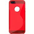 Silicone Case for Apple iPhone 5 / 5s S-Style logo red Pic:2