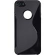Silicone Case for Apple iPhone 5 / 5s S-Style logo black Pic:2