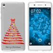 Sony Xperia E5 Silikon-Hülle X Mas Weihnachten  M1