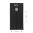 Silikon Hülle Xperia XA2 Lederoptik schwarz Case Pic:1