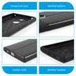 Silikon Hülle Xperia XA2 Lederoptik schwarz Case Pic:3
