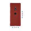 Hardcase Xperia XZ3 rubberized red Cover Pic:1