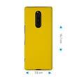 Hardcase Xperia XZ4 gummiert gelb Cover Pic:1