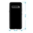 Silicone Case V60 ThinQ transparent black  Pic:1