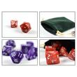 7x polyhedral cubes (dice set) for role and tabletop games in white including velvet bag Pic:1