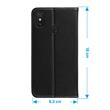 Artificial Leather Case Mi Max 3 Bookstyle black Cover Pic:5