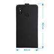 Artificial Leather Case Mi Max 3 Flip-Case black Cover Pic:3