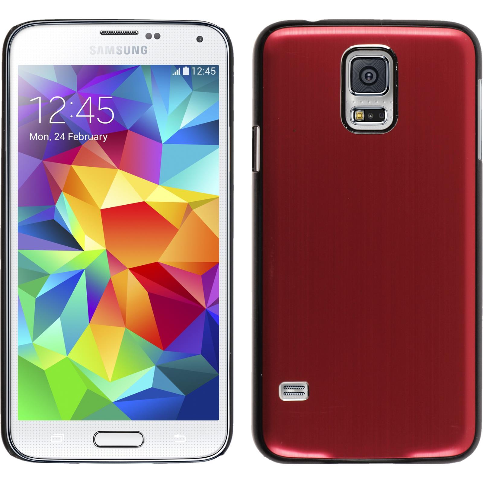 Custodia-Rigida-Samsung-Galaxy-S5-metallico-pellicola-protettiva