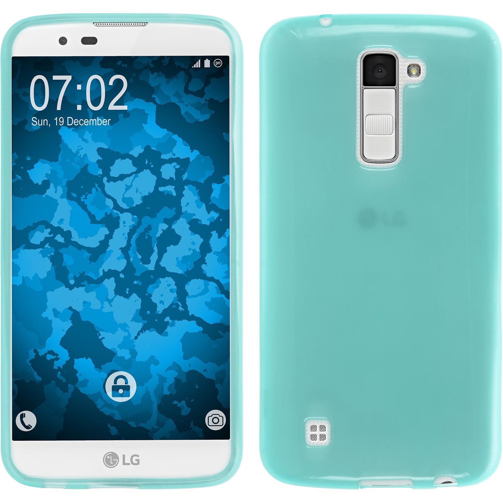 Funda-de-silicona-LG-K10-transparente-protector-de-pantalla