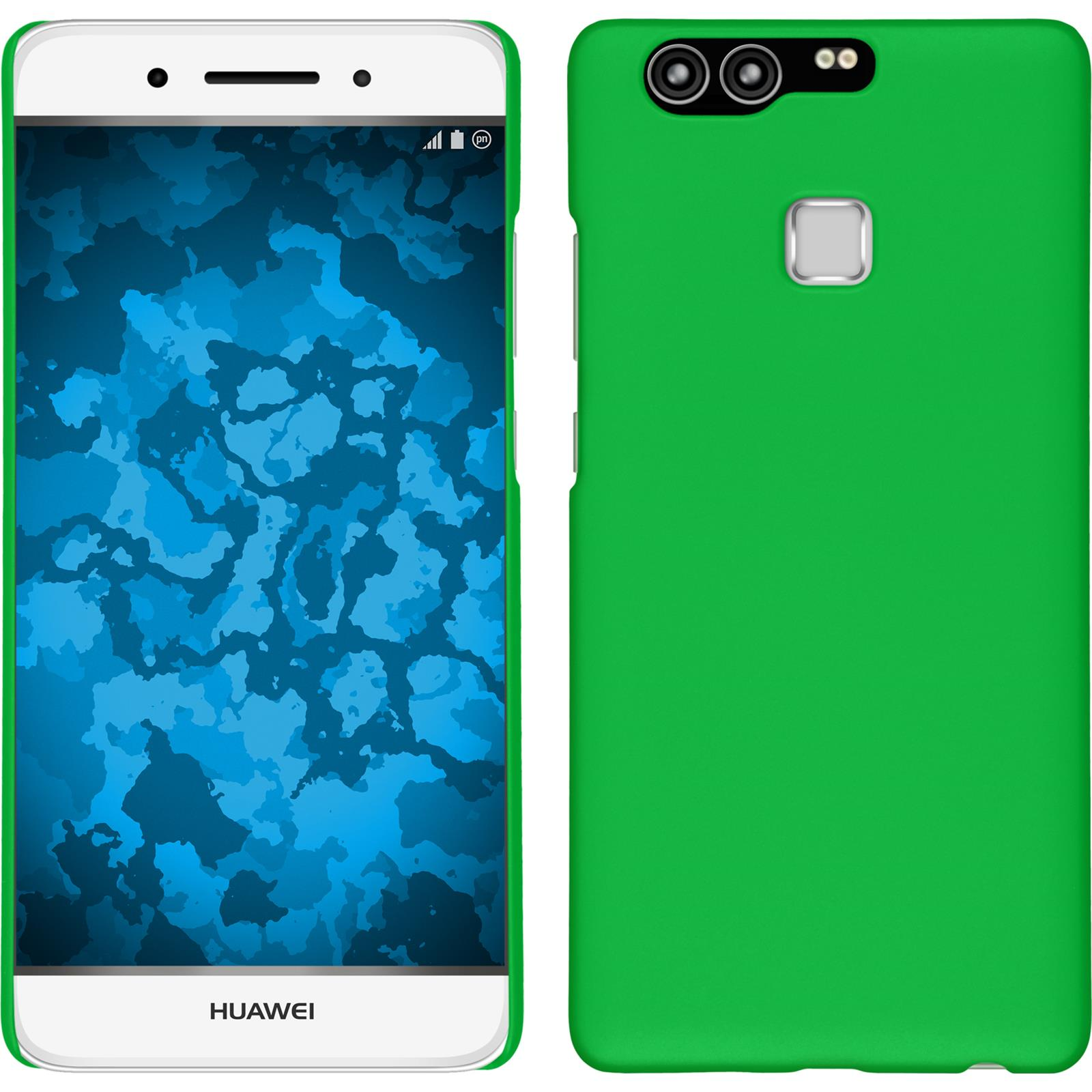 Funda-Rigida-Huawei-P9-goma-protector-de-pantalla