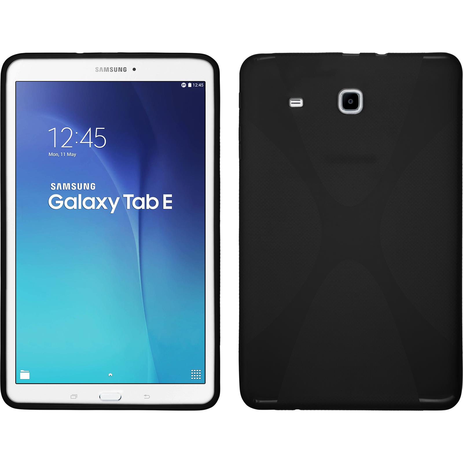 samsung galaxy tab e 9 6 tpu case cover x style protective foils ebay. Black Bedroom Furniture Sets. Home Design Ideas