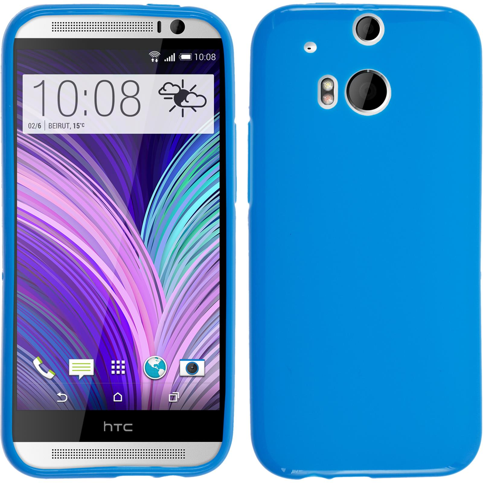 Silicone-Case-for-HTC-One-M8-matt-protective-foils