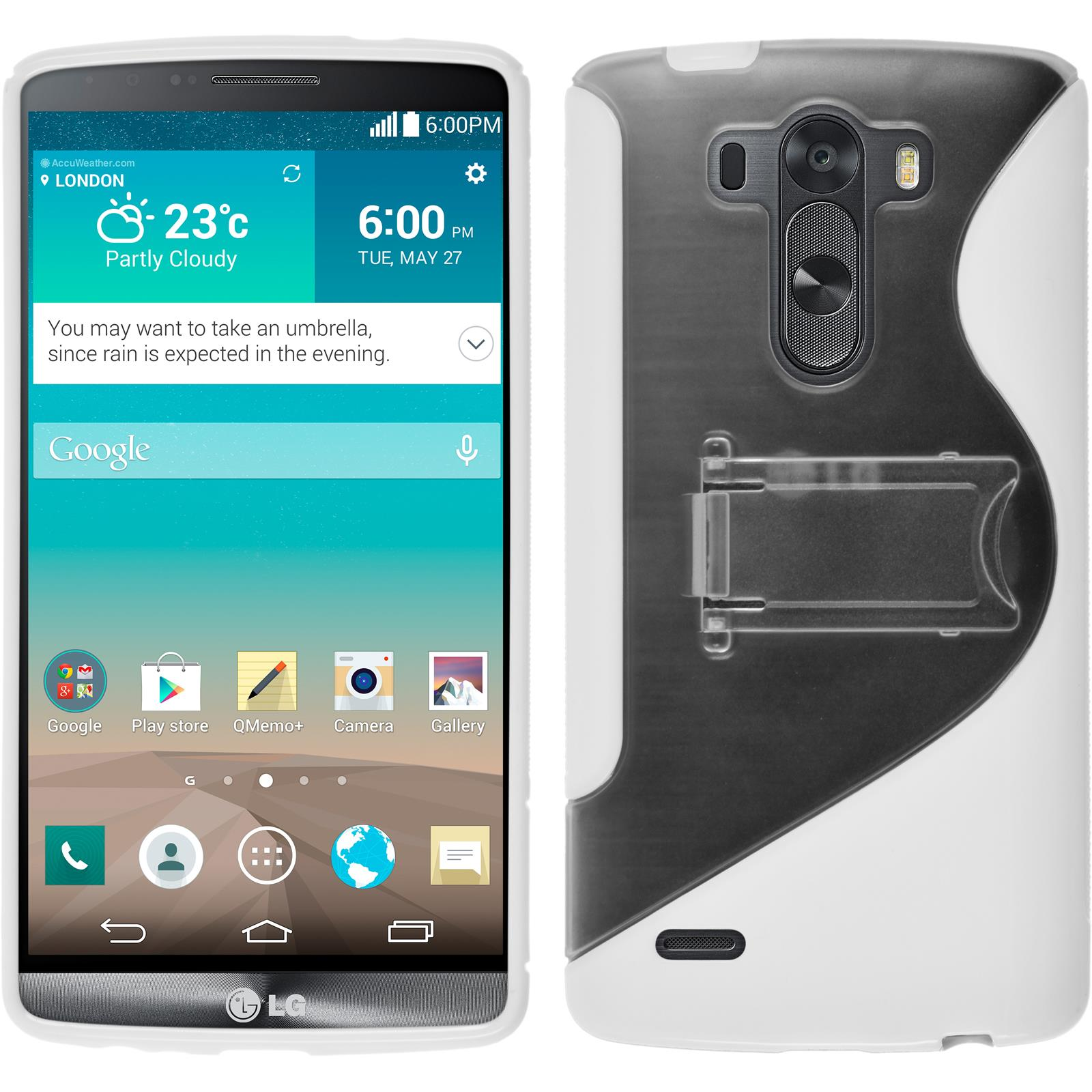 Coque-en-Silicone-LG-G3-pied-support-films-de-protection