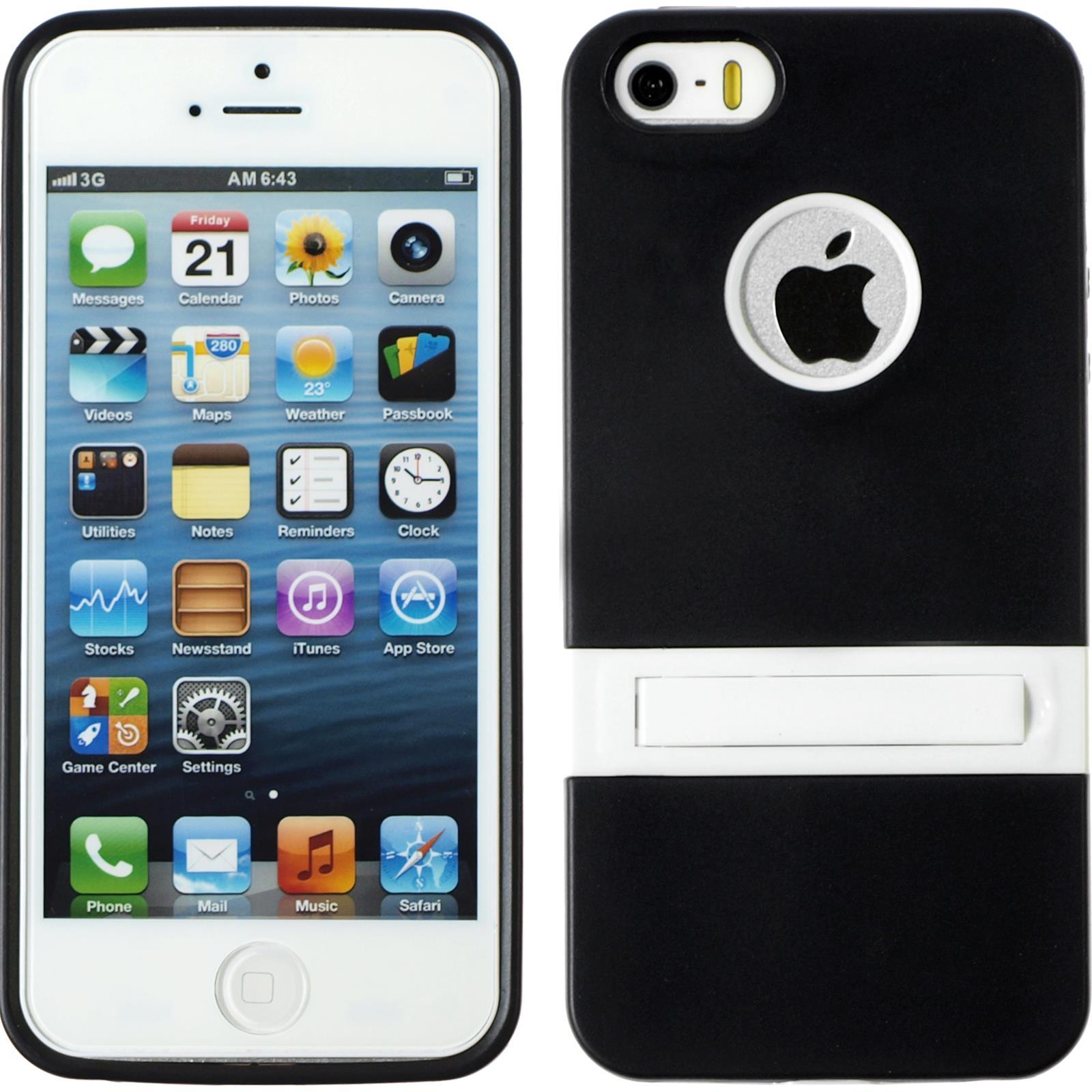 silikon h lle apple iphone 5 5s se kickstand 2. Black Bedroom Furniture Sets. Home Design Ideas
