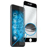 1x iPhone 8 Plus klar full screen Glasfolie mit Silikonrahmen schwarz