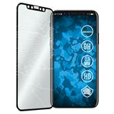 1 x iPhone X / XS Protection Film Tempered Glass clear full screen curved black