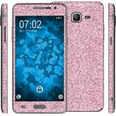 1 x Glitter foil set for Samsung Galaxy Grand Prime pink protection film
