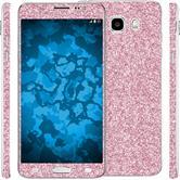 1 x Glitter foil set for Samsung Galaxy J5 (2016) J510 pink protection film