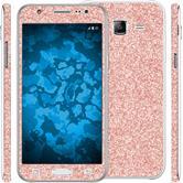 1 x Glitter foil set for Samsung Galaxy J5 (J500) Rose Gold protection film