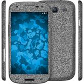 1 x Glitter foil set for Samsung Galaxy S3 gray protection film