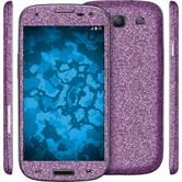 1 x Glitter foil set for Samsung Galaxy S3 Neo purple protection film