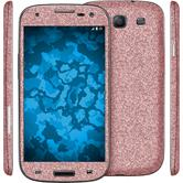 1 x Glitter foil set for Samsung Galaxy S3 pink protection film