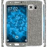 1 x Glitter foil set for Samsung Galaxy S6 Edge Plus gray protection film