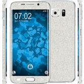 1 x Glitter foil set for Samsung Galaxy S6 Edge Plus silver protection film