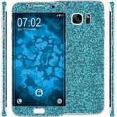 1 x Glitter foil set for Samsung Galaxy S7 Edge blue protection film