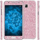 1 x Glitzer-Folienset für Samsung Galaxy J5 (J500) rosa