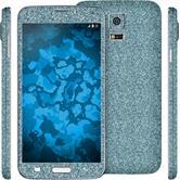 1 x Glitzer-Folienset für Samsung Galaxy S5 blau