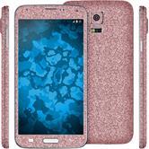 1 x Glitzer-Folienset für Samsung Galaxy S5 Neo rosa