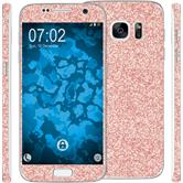 1 x Glitter foil set for Samsung Galaxy S7 Rose Gold protection film