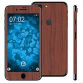 1 x Set di pellicole  effetto legno per Apple iPhone 7 Plus marrone