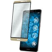 1 x Mate 9 Protection Film Tempered Glass clear full screen gold