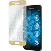 1 x Samsung Galaxy S7 Protection Film Tempered Glass clear gold