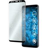 1x Galaxy S8 klar full screen mit abgerundeten Ecken Glasfolie schwarz