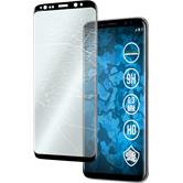 1 x Galaxy S8 Plus Protection Film Tempered Glass clear full screen curved black