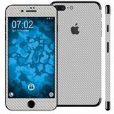 2 x Carbonoptik-Folienset für Apple iPhone 7 Plus silber