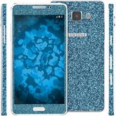 2 x clear foil set for Samsung Galaxy A5 (A500) blue