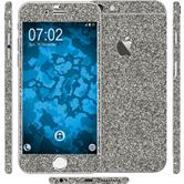 2 x Glitter foil set for Apple iPhone 6s / 6 gray protection film