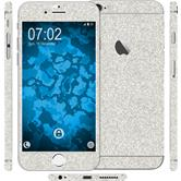 2 x Glitter foil set for Apple iPhone 6s / 6 silver protection film