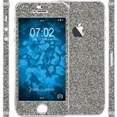 2 x Glitter foil set for Apple iPhone SE gray protection film
